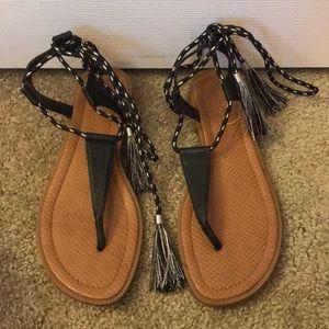 Nine West tassel tie sandals